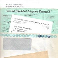 Cartas comerciales: LOTE CARTAS, FACTURAS Y SOBRES SOCIEDAD ESPAÑOLA DE LÁMPARAS ELÉCTRICAS Z AÑOS 70. Lote 176250895