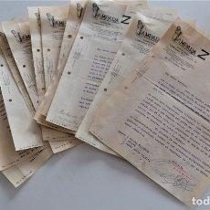 Cartas comerciales: LOTE DE 14 CARTAS COMERCIALES DE LA SOCIEDAD ESPAÑOLA DE LÁMPARAS ELÉCTRICAS Z AÑO 1929. Lote 176254448