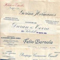 Cartas comerciales: LOTE 10 CARTAS COMERCIALES DE 5 EMPRESAS DE SABADELL (BARCELONA) AÑO 1930. Lote 176269195