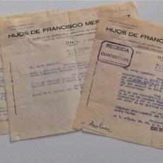 Cartas comerciales: ONIL (ALICANTE) - LOTE 5 CARTAS HIJOS DE FRANCISCO MERIN PÉREZ, FÁBRICA DE MUÑECAS FECHADAS AÑO 1930. Lote 176314428