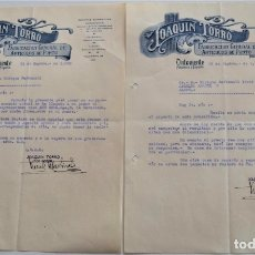Cartas comerciales: ONTENIENTE (VALENCIA) - LOTE DOS CARTAS DE JOAQUÍN TORRÓ, FÁBRICA DE PUNTO AÑO 1930. Lote 176314743