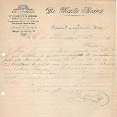 Cartas comerciales: CARTA COMERCIAL MANUSCRITA ESTABLECIMIENTO DE QUINCALLA LA ESPAÑOLA . GRANADA 1915. Lote 176445445