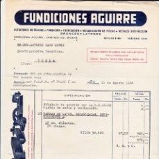 Cartas comerciales: FUNDICIONES AGUIRRE BILBAO PARA UBEDA JAÉN. Lote 177079878
