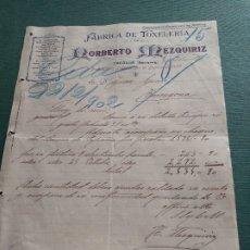 Cartas comerciales: TAFALLA NAVARRA - CARTA COMERCIAL AÑO 1902 - IMPRESION ARTISTICA Y MUY BONITA. Lote 177782324