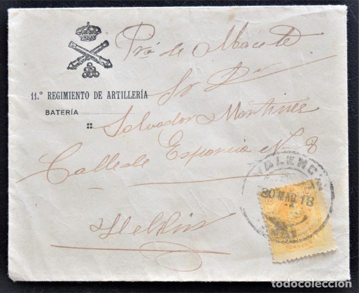 11º REGIMIENTO DE ARTILLERIA - SOBRE (Coleccionismo - Documentos - Cartas Comerciales)