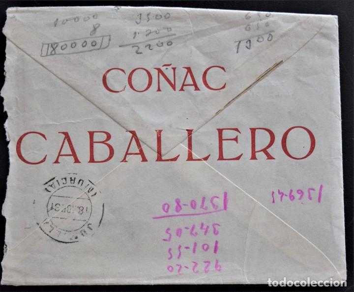 Cartas comerciales: VALENCIA - COÑAC CABALLERO - JOSE DASÍ - SOBRE - Foto 2 - 177806844