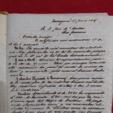Cartas comerciales: COPIADOR DE CARTAS DE 1815 BODEGAS MULLER TARRAGONA SAN GERVASIO. Lote 177843437