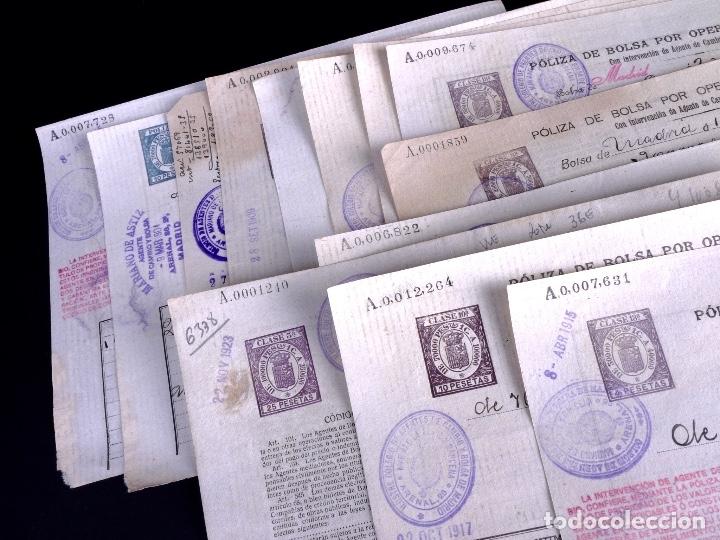 Cartas comerciales: POLIZAS DE BOLSA POR OPERACION AL CONTADO. LOTE DE 14 UDS. MADRID 1899-1923 - Foto 2 - 179181763