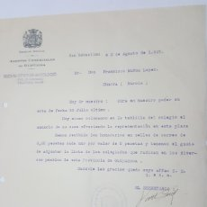 Cartas comerciales: CARTA AGENTES COMERCIALES DE GUIPUZCOA AÑO 1927. Lote 179332903