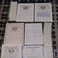 Cartas comerciales: PÓLIZA DE SEGURO CONTRA EL RIESGO DE ACCIDENTE DE TRABAJO LA VASCO NAVARRA 1959. Lote 182322281