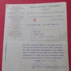 Cartas comerciales: CARTA COMERCIAL. PROYECTOS DE INGENIERIA CIVIL. ´BOETTICHER Y NAVARRO. MADRID 1913.. Lote 182453983