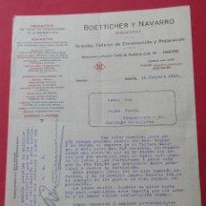 Cartas comerciales: CARTA COMERCIAL. PROYECTOS DE INGENIERIA CIVIL. ´BOETTICHER Y NAVARRO´. MADRID 1914.. Lote 182454141