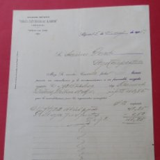 Cartas comerciales: CARTA COMERCIAL. CABLES ELÉCTRICOS DE ALGORTA. ALGORTA 1915.. Lote 182454298