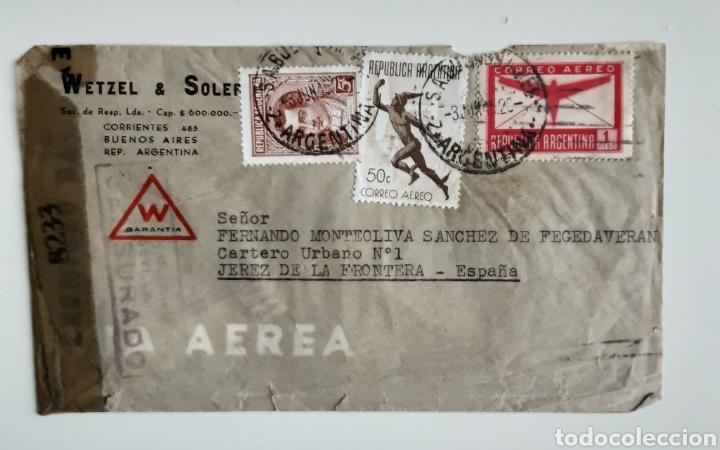 WETZEL & SOLER SOBRE CON CORRESPONDENCIA BUENOS AIRES 1945 (Coleccionismo - Documentos - Cartas Comerciales)
