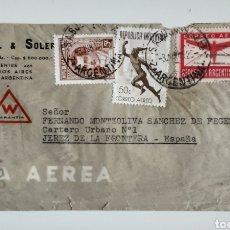 Cartas comerciales: WETZEL & SOLER SOBRE CON CORRESPONDENCIA BUENOS AIRES 1945. Lote 183721090
