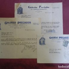 Cartas comerciales: GALERIAS PRECIADOS.CARTAS 1944-1945,DE SUS PRIMEROS AÑOS.FUNDADA POR PEPÍN FERNANDEZ EN 1943.. Lote 183925640