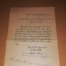 Cartas comerciales: 1884 CARTA DE PRESENTACION REPRESENTANTE SANCHEZ, CARO BARCELONA. Lote 183950245