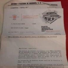 Cartas comerciales: CARTAS COMERCIALES JOYERIA Y PLATERIA GUERNICA VIZCAYA INVITACION 1 FERIA MUESTRAS NOROESTE FERROL. Lote 184007140