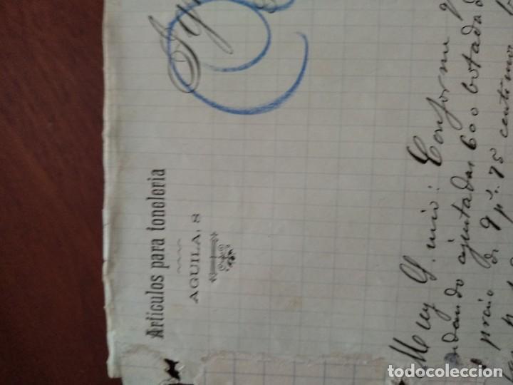 Cartas comerciales: REUS - IGNACIO BAIGES - AGUILA, 8 - CARTA COMERCIAL - AÑO 1893 - INTERESANTE - Foto 2 - 184087340