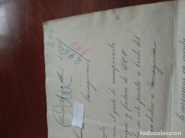 Cartas comerciales: ALMERIA - ULIBARRI Y PEYDRO - CARTA COMERCIAL - AÑO 1893 - INTERESANTE - Foto 3 - 184088058