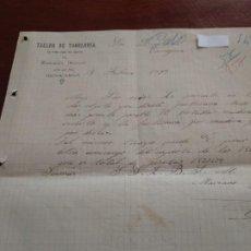 Cartas comerciales: BENICARLÓ - TALLER DR TONELERIA - MARIANO IÑIGUEZ - CARTA COMERCIAL - AÑO 1893 - INTERESANTE . Lote 184088677