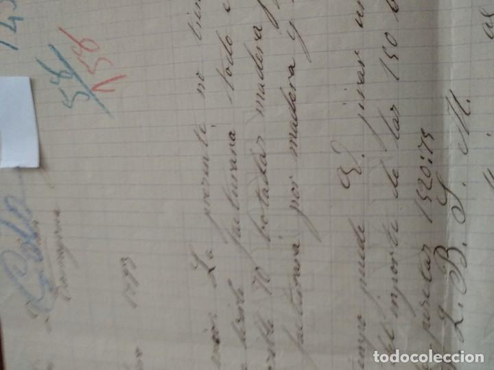 Cartas comerciales: BENICARLÓ - TALLER DR TONELERIA - MARIANO IÑIGUEZ - CARTA COMERCIAL - AÑO 1893 - INTERESANTE - Foto 3 - 184088677