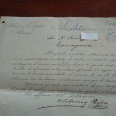 Cartas comerciales: ALMERIA - ULIBARRI Y PEYDRO - CARTA COMERCIAL - AÑO 1893 - INTERESANTE . Lote 184088840