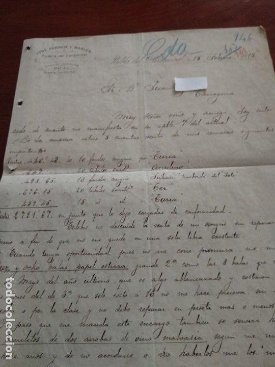 PUEBLA DEL CARAMINAL - LA CORUÑA- JOSE FERRER - CARTA COMERCIAL - AÑO 1893 - INTERESANTE (Coleccionismo - Documentos - Cartas Comerciales)