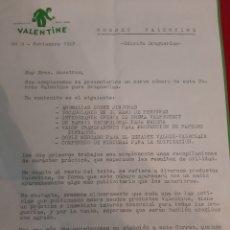 Cartas comerciales: VALENTINE 1968 CARTA COMERCIAL BARCELONA. Lote 184519500