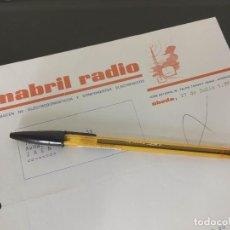 Cartas comerciales: MABRIL RADIO UBEDA JAEN COMPONENTES ELECTRONICOS Y ELECTRODOMESTICOS 1970.. Lote 187460103