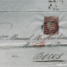 Cartas comerciales: CARTA COMERCIO MARITIMO BUQUES BERGANTINES CORBETAS HABANA 1852 S XIX 6 CS SANTANDER MEDINA DE POMAR. Lote 189276918