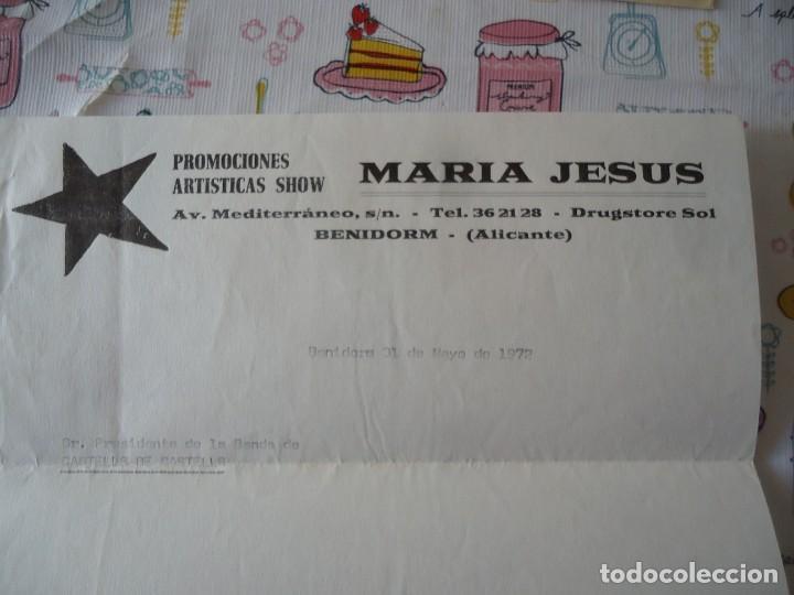Cartas comerciales: carta comercial promociones artisticas show Maria Jesus,Benidorm - Foto 3 - 189479015