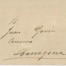 Cartas comerciales: REUS - ANY 1899 - INTERESANT SOBRE-DOCUMENT NOT. DE NOVES SIGNATURES DE TONELERIA . Lote 190019111