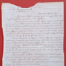 Cartas comerciales: CARTA MANUSCRITA. DE BARCELONA A ALBACETE. 1870. Lote 190060081