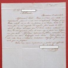 Cartas comerciales: CARTA MANUSCRITA. DE BARCELONA A ALBACETE. 1872. Lote 190060712