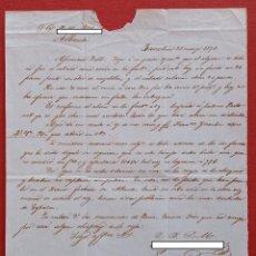 Cartas comerciales: CARTA MANUSCRITA. DE BARCELONA A ALBACETE. 1871. Lote 190060761