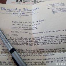 Cartas comerciais: LOTE DE DOS CARTAS NAVARRO HERMANOS Y MENGUAL Y MARTÍNEZ ESPINARDO MURCIA CORUÑA. Lote 190516838