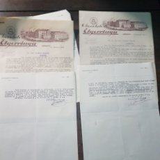 Cartas comerciales: CARTA COMERCIAL CHOCOLATES ELGORRIAGA. IRÚN 1943. Lote 190754157