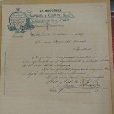 Cartas comerciales: LA BEGOÑESA LAVIADA Y CIA GIJON ASTURIAS SUCESORES DE KESSLER FUNDICIÓN DE HIERRO. FIRMA. Lote 201166611