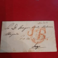 Cartas comerciales: 1847 MONDRIZ LUGO DESTINO JOAWUIN PARDO VALCARCE CARTA COLEGA DESEANDO BUENA ACTIVIDAD ABOGACÍA. Lote 191037717
