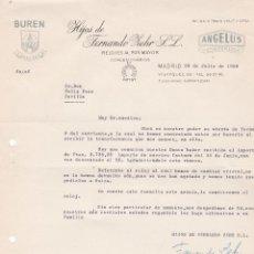 Cartas comerciales: CARTA COMERCIAL. HIJOS DE FERNANDO ZEHR S.L. RELOJES AL POR MAYOR. MADRID 1958. Lote 191301382