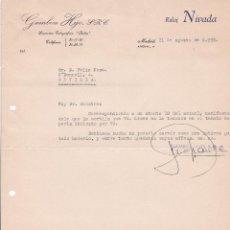 Cartas comerciales: CARTA COMERCIAL. GAMBOA HIJO. MADRID 1958. Lote 191302103