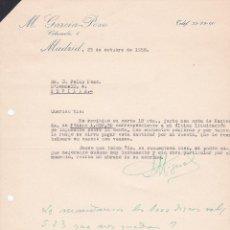 Cartas comerciales: CARTA COMERCIAL. M. GARCÍA POZO. MADRID 1958. Lote 191305073