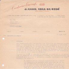 Cartas comerciales: CARTA COMERCIAL. J.ANGEL FDEZ. DE OSSÓ. ORIENTACIONES COMERCIALES. SEVILLA 1958. Lote 191305505
