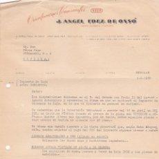 Cartas comerciales: CARTA COMERCIAL. J.ANGEL FDEZ. DE OSSÓ. ORIENTACIONES COMERCIALES. SEVILLA 1958. Lote 191305893