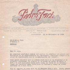 Cartas comerciales: CARTA COMERCIAL. PEDRO FACI. FÁBRICA DE PLATERÍA-JOYERÍA. ZARAGOZA 1958. Lote 191306265