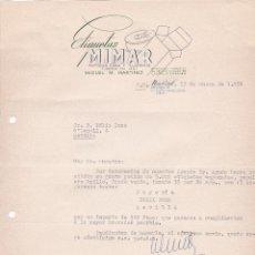 Cartas comerciales: CARTA COMERCIAL. ETIQUETAS MIMAR. MIGUEL M. MARTINEZ. MADRID 1958. Lote 191307636
