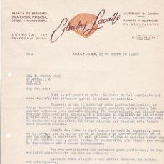 Cartas comerciales: CARTA COMERCIAL. ESTUCHES LACALLE. FÁBRICA DE ESTUCHES. BARCELONA 1958. Lote 191307778