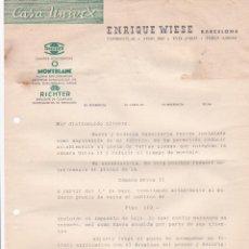 Cartas comerciales: CARTA COMERCIAL. ENRIQUE WIESE. CASA UNIVEX. BARCELONA . Lote 191502643