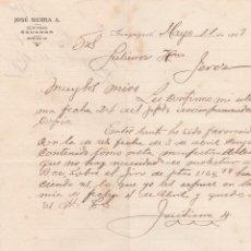 Lettres commerciales: CARTA COMERCIAL. JOSÉ SIERRA A. GUAYAQUIL. ECUADOR 1908. Lote 191519556